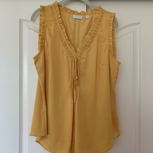 NY&CO Golden Tank Blouse